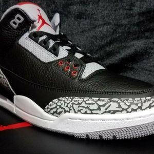 Jordan Shoes - Nike Air Jordan 3 III Retro OG Black Cement Grey